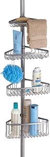 mDesign étagère de douche télescopique – serviteur de douche, montage sans perçage – étagère de douche idéale pour les sha...