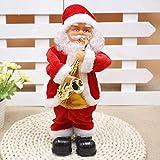 TJLSS Babbo Natale, Ballando Cantando Babbo Natale Che Gioca Tamburo di Natale Bambola Musicale in Movimento Figura Pile della Decorazione, Il Regalo for i Bambini (Color : C)