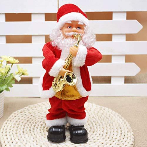 TJLSS Santa Claus, Tanzen Singen Weihnachtsmann Drum Weihnachtspuppe Musical Wiedergabe von Abbildung Batteriebetriebene Dekoration, Geschenk for Kinder (Color : C)