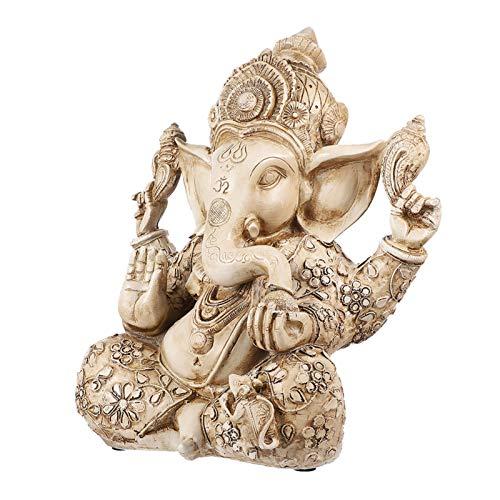 YARNOW Indischer Elefant Buddha Ganesh Skulptur Harz Ganesha Elefant Gott Figur Handwerk Ganpati Statue Home Tischschmuck