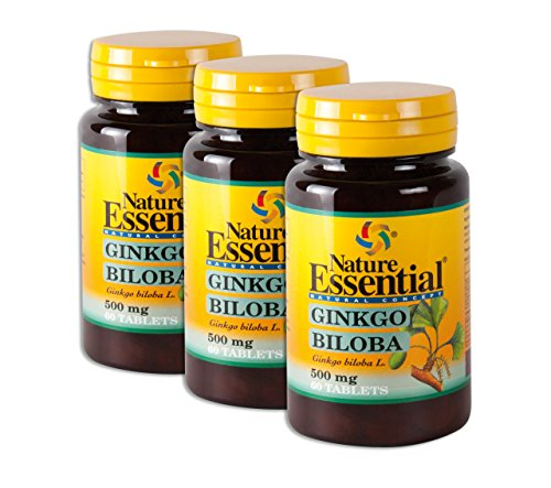 Ginkgo Biloba - 500mg Ginkgo Extrakt und Ginkgo Pulver - Das günstigste hochdosierte Premium Ginkgo auf dem Markt (insg. 180 Tabletten = 3 Monats-Pack)