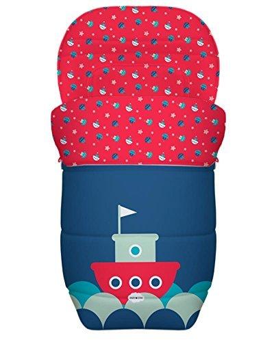 Baby Star tas stoeltje kinderwagen universeel omkeerbaar (een kleine marine)
