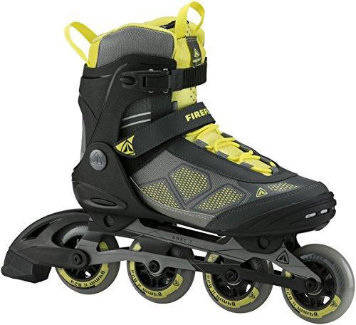 FIREFLY Herren Inline Skate FF Alu 84 Man Inlineskates, gelb (Yellow/Grey/Black), 42