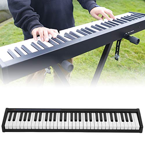 Divertido piano eléctrico, piano digital, práctico uso general para niños Instrumento musical de uso profesional(black, Blue)