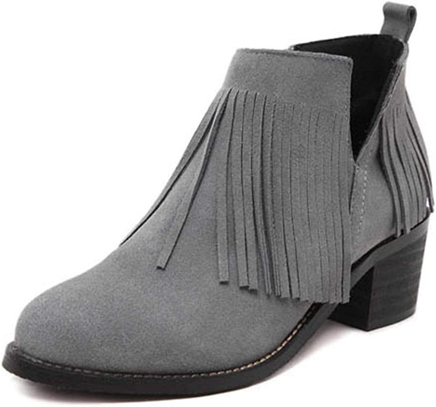 Winter Ladies' Thick and Bare Boots Large Size PU Leather Warm Lining