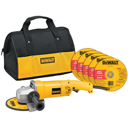 DEWALT Angle Grinder Tool Kit with Bag and Cutting Wheels, 7-Inch, 13-Amp, DW840K