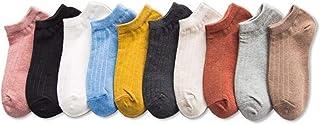 カバーソックス 綿 柔らか 無地 靴下 10足セット 通学 通勤 通気 レディース