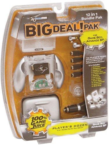 dreamGEAR Big Deal Pak 1245;in45;1 Bundle for Game Boy Advance SP45; Platinum