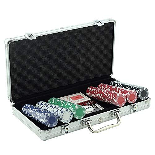LIUTL 300 PCS Texas Hold'em Pottery Set Corazones De Porcelana con Monedas De Chip De Cerámica Mahjong De Valor Nominal