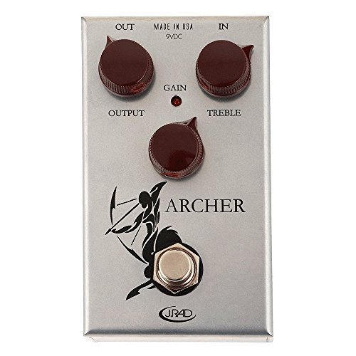 J. Rockett Audio Designs Pedal de efeitos de guitarra Tour Series Archer Overdrive e Boost
