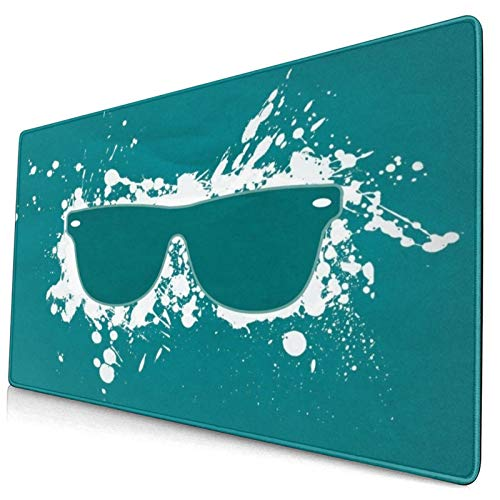 CANCAKA Large Gaming Mouse Pad,Art Background Digital Glasses Minimalistic Simple Splashes,Non-Slip Rubber Mouse Pads Mousepad for Gaming Computer Office Desk,75×40×0.3cm
