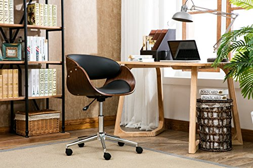 Porthos Home Monroe Mid Century Modern Chair With Curved...