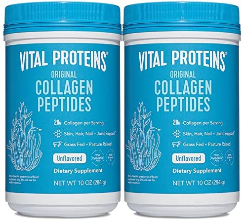 Vital Proteins Collagen Peptides Powder Supplement (Type I, III) for Skin Hair Nail Joint - Hydrolyzed Collagen - Non-GMO - Dairy and Gluten Free - 20g per Serving
