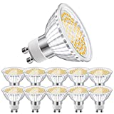Eofiti Bombillas GU10 Cálida, 6W GU10 LED 2700K Blanco Cálido Equivalente a 50W Lámparas Halógenas AC 230V Ojo de Buey 540LM �ngulo de Haz de 120°Spot Luz GU 10 Ra 83 No Regulable Paquete de 10