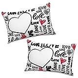 Babloo Coppia di Federe Love Love Love