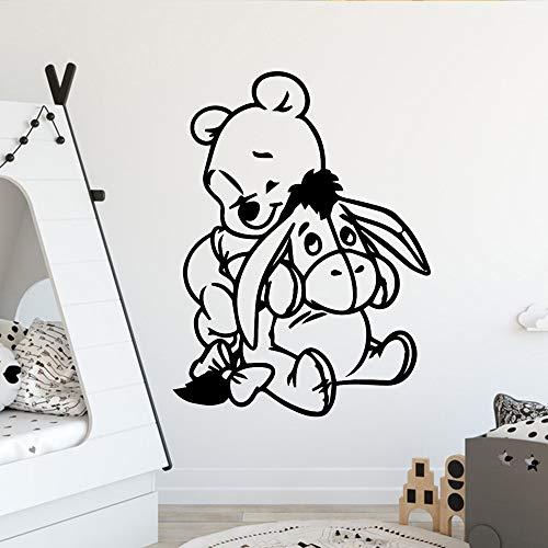 wZUN Adesivi murali Orso Creativo Adesivi murali Moderni per camerette 36x48cm