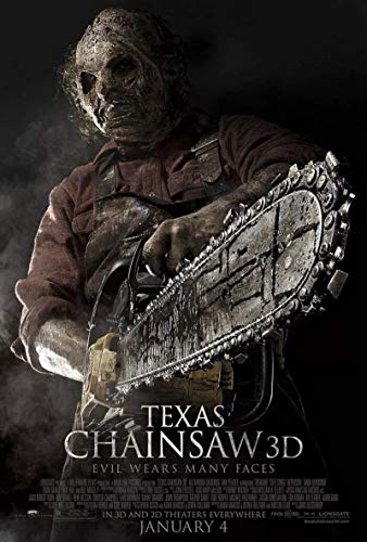 qianyuhe Immagini di Arte della Parete Texas Motosega 3D Movie Horror Gore Leatherface Art Poster Home Decor 60x90cm (24x36 Pollici