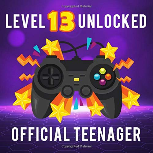 Level 13 Unlocked. Officially A Teenager.: 13th Birthday Guest Book. Space For Name, Thoughts & Best Wishes. Suitable for 300 Guest. Gift Log Included. Gaming Console Cover.