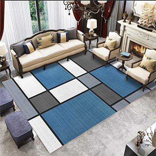 Geometrische moderne traditionele woonkamer tapijt, Home Decoration mannen en vrouwen Fitness Mat, anti-slip gemakkelijk zorg, Geschikt voor slaapkamer Hotel Yoga, Etc.