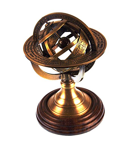 Armillary Sphere Astrology Globe - Scaled Replica Antique Scientific Instrument / Paperweight