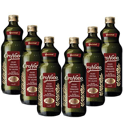 Pantaleo Olio Extra Vergine di Oliva Oronovo origine UE 6 Bottiglie da 1 litro di Olio extravergine di Oliva, Estratto a Freddo, Olio Oliva dal Carattere Fresco e Deciso Fruttato