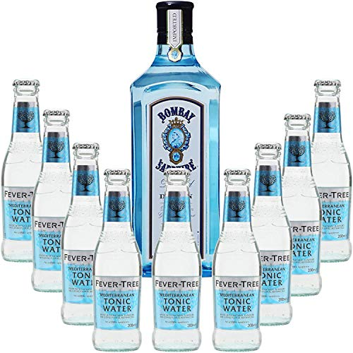 Gintonic - Bombay Sapphire Gin 40 ° + 9Fever Tree Mediterranean Water - (70cl 20cl * + 9)