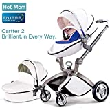 Hot Mom Poussette combinée 2020 Fashion,Blanc