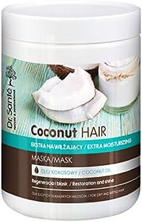 Dr Sante Coconut Oil Extra - Mascarilla hidratante para cabello seco y quebradizo, 1000 ml