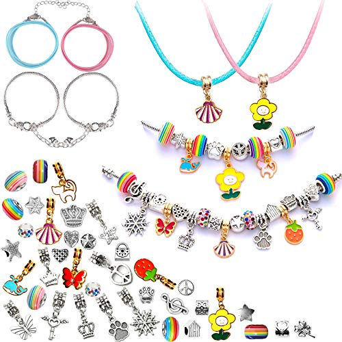 Gifts Charm Bracelet Making Kit, 8-12 Year Old Girl Gifts, Friendship Bracelets, DIY Art and Craft for Kids Jewellery Making Kit for Girls
