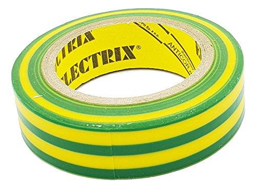 Geelgroen isolatietape elektrisch waterdicht 15 mm x 10 m