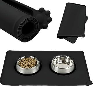 Delleu Silicone Imperméable À l'eau Chien Chat Bol Sets de Table-Chien Chat Animaux Tapis d'alimentation
