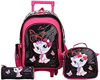 ROCO BAG KNAPSACK TROLLEY 15 3-IN-1,with pencil case & Lunch Bag