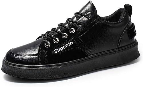 Printemps blanc chaussures chaussures de Running chaussures en cuir Casual sport chaussures hommes chaussures de mode coréenne de nouveaux hommes