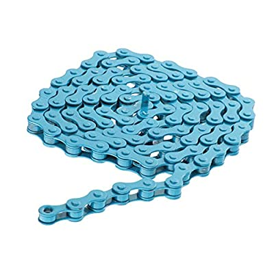 Wangcai Bike Chains 96 Links Bicycle Chains Colorful Single Speed Fixed Bicycle Chains Fixed Gear Track BMX Chains Cycling Accessories(Blue)