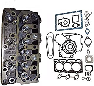 New Complete Cylinder Head + Full Gasket Kit for Kubota D1105 Engine