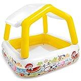 NAMFXH Sunshade Kid Adult Aufblasbarer Pool PVC-Material Dickes Planschbecken Verschleißfester Ballpool Sommerspielplatz im Freien (abnehmbare Markise)