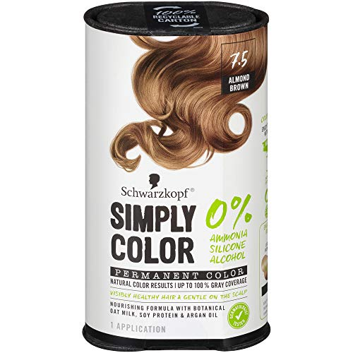 Schwarzkopf Simply Color Permanent Hair Color, 7.5 Almond Brown