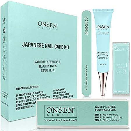 Beauty Shopping Onsen Japanese Nail Buffer and Shine Kit – Professional Nail File, 3-Way Nail