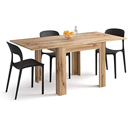 Mobili Fiver, Table Extensible Eldorado, Bois Rustique, 90 x 90 x 79 cm, Made in Italy