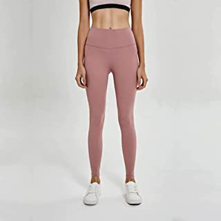 Spring and Summer High Waist Yoga Pants Female Hips High Waist Shaping Running Motion Fitness Pants,Pink(4)