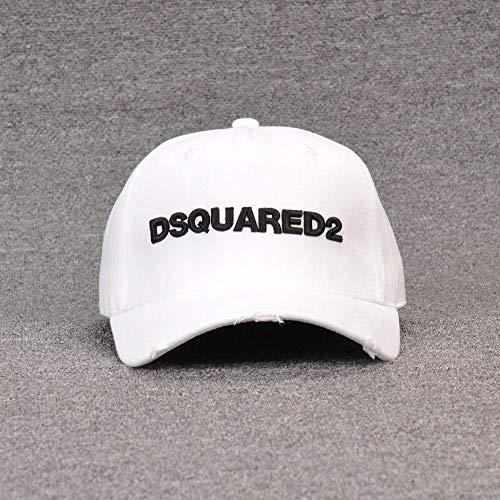 sdssup Herren Baseball Cap DSQ Fashion Flut Hut Damen Wild Hut D78 weiß verstellbar