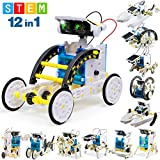 FLY2SKY 12-in-1 STEM Toy Solar Robot KIt DIY Solar STEM Robot Toy Building Toy Gift for Kids 8 9 10 11 12+ Science Kits...