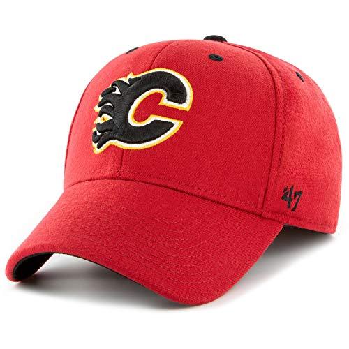 47 Forty Seven Brand Calgary Flames Outrush Headline Hoody Jet Black Mens Kapuzenpullover Herren