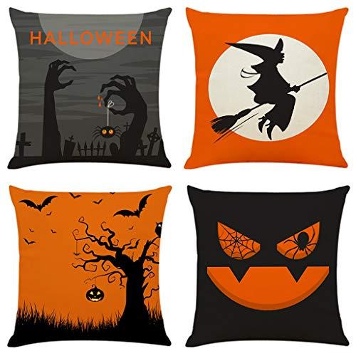 Hohaski Home Decor Cushion Cover Happy Halloween Day Pillowcase Sofa Throw Pillow Covers, Christmas Ornaments Advent Calendar Pillow Covers Garland Tree Skirt Gift Bags DIY