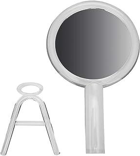 مرآة مكياج ، مرآة مكياج مكبرة قابلة للطي ، مرآة مستحضرات تجميل للمنزل والسفر منضدية الحمام (شفافة)
