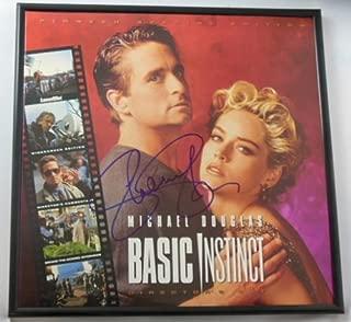 Basic Insinct Sharon Stone Signed Autographed Laserdisc Movie Framed Loa
