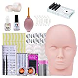 Eyelashes Kit, Missicee 19pcs Eyelash Extensions Training Kit MakeUp False Eyelashes Extension Tool for Makeup Practice Eye Lashes Graft