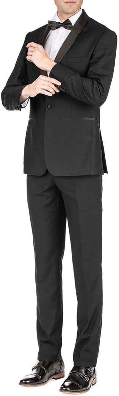 Braveman Gino Vitale Men's Slim Fit Shawl Lapel Tuxedo