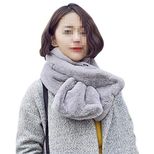 Amorar Frauen Mädchen Winter Dicke Warme Loop Schal Faux Pelz Plüsch Halswärmer Kragen Infinity Schal Tücher Wrap Halstücher Schlauchschal,EINWEG Verpackung