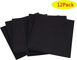 Neoprene Rubber Sheets Foam,Non-Self Stick Adhesive Non-Slip Foam Anti-Vibration Pads (12Pcs Black, 6
